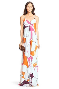 DVF Barths Silk Maxi Dress