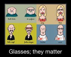 Dus daarom zijn er mensen die een bril ipv lenzen dragen...