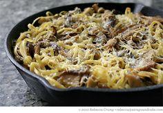 Baked Mushroom Linguine, add Bison