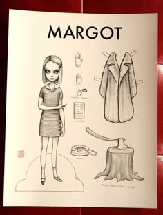 Margo, Royal and Richie - paper doll trio by Mab Graves $10  I adore The Royal Tenenbaums!