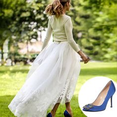 "Olivia Palermo wore ""something blue"" - in fact, something Columbia Blue - at her wedding."