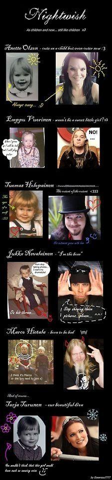Nightwish band members as children