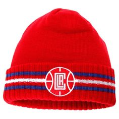 4461ea783fb LA Clippers adidas Team Nation Cuffed Knit Hat - Red