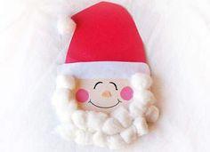 Santa Plate Ornament For Xmas Tree (How To) - Kids Christmas Craft Ideas
