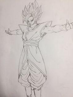 """""""The merged Zamasu..."""" Drawn by: Young Jijii. Found by: Son Goku (Kakarot)"""