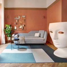 Brick Paint Colors, Rome Apartment, Painted Brick Exteriors, Wood Columns, New York Architecture, Interior And Exterior, Interior Design, Exposed Brick Walls, Brick Facade