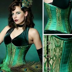 Peacock Corset by lacey
