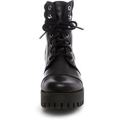 Steve Madden Osso Boots (€63) ❤ liked on Polyvore featuring shoes, boots, ankle booties, ankle boots, black, black platform boots, black ankle booties, short black boots and steve madden boots