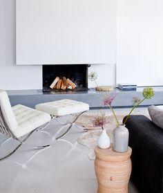 barefootstyling.com Newly built house in Leidschendam Photographer: Jeroen van der Spek | Stylist: Cleo Scheulderman #binnenkijken #vtwonen #fireplace #white