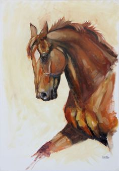 Original oil equine horse movement by heatherirvinefineart on Etsy