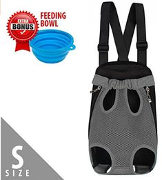 Dog Carrier | Comfortable Legs Out Front Pet Carrier Backpack with Tail Hole | Traveling Dog Cat Pet Bag for Hiking Camping with Adjustable Strap and Inner Collar | Machine Washable | Vibrant Grey S Airline Pet Carrier, Dog Carrier, Dog Leg, Pet Bag, Pet Carriers, Dog Crate, Hiking Backpack, Dog Accessories, Best Dogs