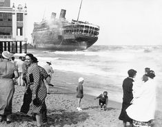 Morro Castle Ship Run Aground off Asbury Park, NJ—1934