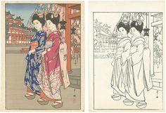 Hiroshi Yoshida finished and keyblock Hiroshi Yoshida, Printmaking, Japanese, Image, Prints, Art, Art Background, Japanese Language, Kunst