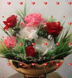 Good night sister and all, have a peaceful night 🌜🌃🌛💖. Roses Gif, Flowers Gif, Paper Flowers, Beautiful Bouquet Of Flowers, Beautiful Flower Arrangements, Types Of Flowers, Beautiful Gif, Beautiful Roses, Good Night Sister