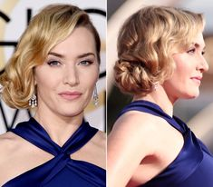 14 of the Prettiest Golden Globes Updos from Every Angle - Kate Winslet  - from InStyle.com