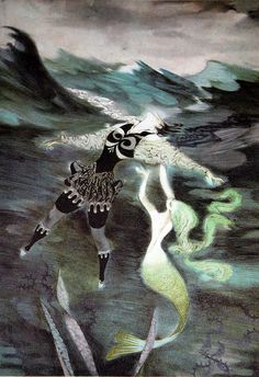 I had a copy of Hans Christian Andersen's Fairy Tales when I was a child that I remember fondly. It was illustrated by Jiri Trnka. I wish I could find it.
