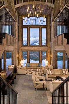 Living room in the mountains.