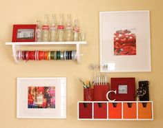 {Organization} Orange Craft Room with Tons of Style! - Scrap this...and that!   Scrap this...and that!