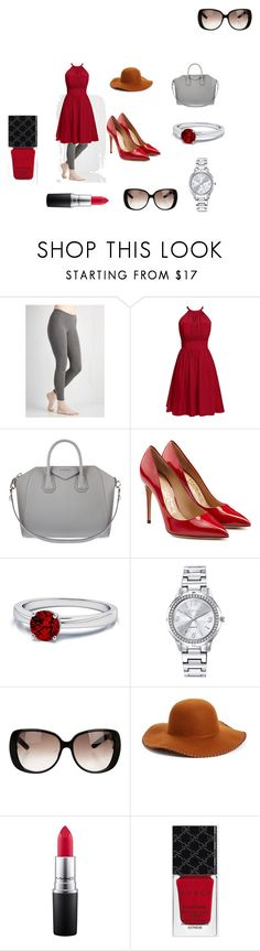 """""""Bold"""" by cvlacques ❤ liked on Polyvore featuring Givenchy, Salvatore Ferragamo, Mestige, Gucci, Phase 3 and MAC Cosmetics"""