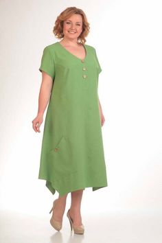Dresses for obese women of the Belarusian brand ALGRANDA, spring-summer 2017 Plus Size Dressing Gowns, Plus Size Dresses, Dresses For Work, Summer Dresses, Floral Kimono Outfit, Big Size Fashion, Stylish Plus Size Clothing, Frock For Women, Looks Plus Size