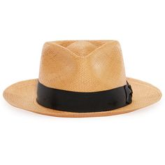 Big John Straw Fedora Hat Tan American Made Left Side