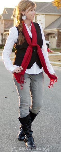Christmas Party Fashion Ideas. Nearly 10 ideas (on two posts) with how to use what you already have to be holiday festive! KristenDuke.com