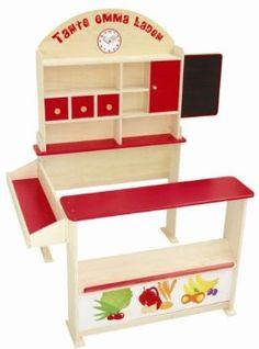 Pour votre petite-fille qui aime jouer à la marchande, ce très bel étal en bois, dont les casiers nous rappellent les épiceries de notre enfance - 69,90 € http://www.amazon.fr/dp/B001MBUH90/ref=asc_df_B001MBUH9030255551/?tag=googshopfr-21&creative=22686&creativeASIN=B001MBUH90&linkCode=df0&hvdev=c&hvnetw=g&hvqmt=