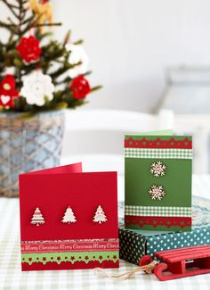 How to make Nordic-style Christmas cards