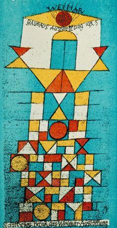 Bauhaus Art Paul klee postcard for