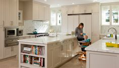 Martha Angus - Menlo Park Residence (the window backed cabinets!)