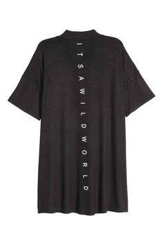 T-shirt com meia gola | H&M