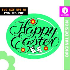 HAPPY EASTER SVG esater cut files esater vector esater