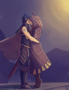 Chrom and his tactician - LOVE IT.