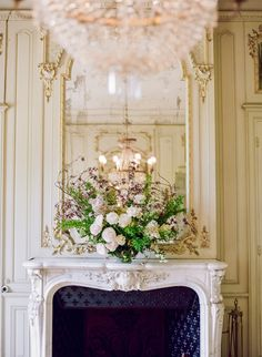 French Chateau Wedding Mantel | photography by http://www.artiesestudios.com/
