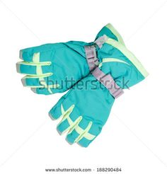 ski gloves isolated on white background