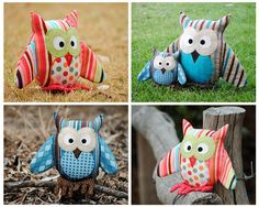 Owl Pattern PDF Sewing Pattern for Owl Soft Toy by AngelLeaDesigns, 11.50