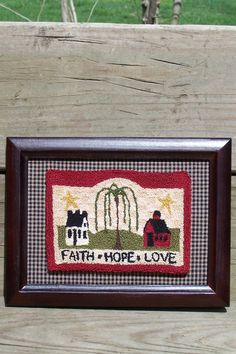 """Table Mat with Words of Comfort Green 18/"""" x 20/"""" /_AL-068 Quilted Wall Hanging"""