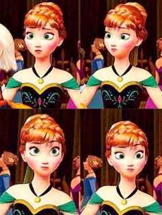 Anna with the cutest facial expressions....