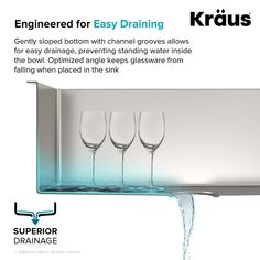 Kraus Standart PRO 16 Gauge x Undermount Kitchen Sink with Bottom Grid, Drain Assembly and Drain Cap Drop In Kitchen Sink, Farmhouse Sink Kitchen, New Kitchen, Kitchen Sinks, Kitchen Ideas, Kitchen Design, Basement Kitchen, Farm Sink, Kitchen Photos