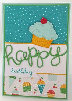 Birthday Card, Stamp Set - Sprinkles of Life, Endless Birthday Wishes, DSP - Cherry on Top, Free Tutorial - https://sunshinecards-creations.com/2017/01/13/happy-birthday-28/ Stampin' Up!