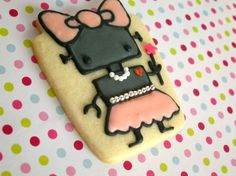 Girl Robot Cookie