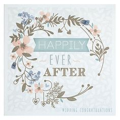 Buy Happily Ever After Floral Circle Wedding Congratulations Card Online at johnlewis.com