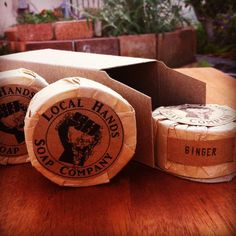 5 pack small Ginger Soap 1.75 oz each Natural Organic Vegan by LocalHandsSoapCo on Etsy