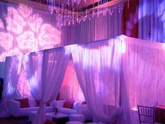 white lounge decor at event