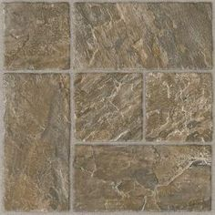 Armstrong 12 in. x 12 in. Peel and Stick Slate Modular Brown Vinyl Tile (24 sq. ft. /Case)-25820 at The Home Depot