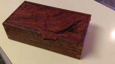 Red Gum jewelry Box with Tilt Lid