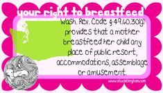State breastfeeding laws (free printable)