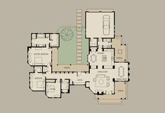 Mexican Style Courtyard House Plans 59 Cheap Homes to Build Floor Plans House Plans Finding the most effective home design ideas for your house . U Shaped House Plans, U Shaped Houses, Pool House Plans, Courtyard House Plans, House Layout Plans, Garage House Plans, House Plans One Story, Ranch House Plans, Best House Plans