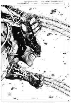 Wolverine by Allan Goldman Marvel Comics Superheroes, Marvel Films, Marvel Art, Marvel Characters, X Men, Comic Books Art, Comic Art, Wolverine Art, Jobs In Art