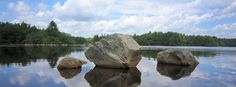Deer Point boulders on the Yellow Trail at Camp Yawgoog.  A 2013 image by David R. Brierley.  Facebook cover photo.